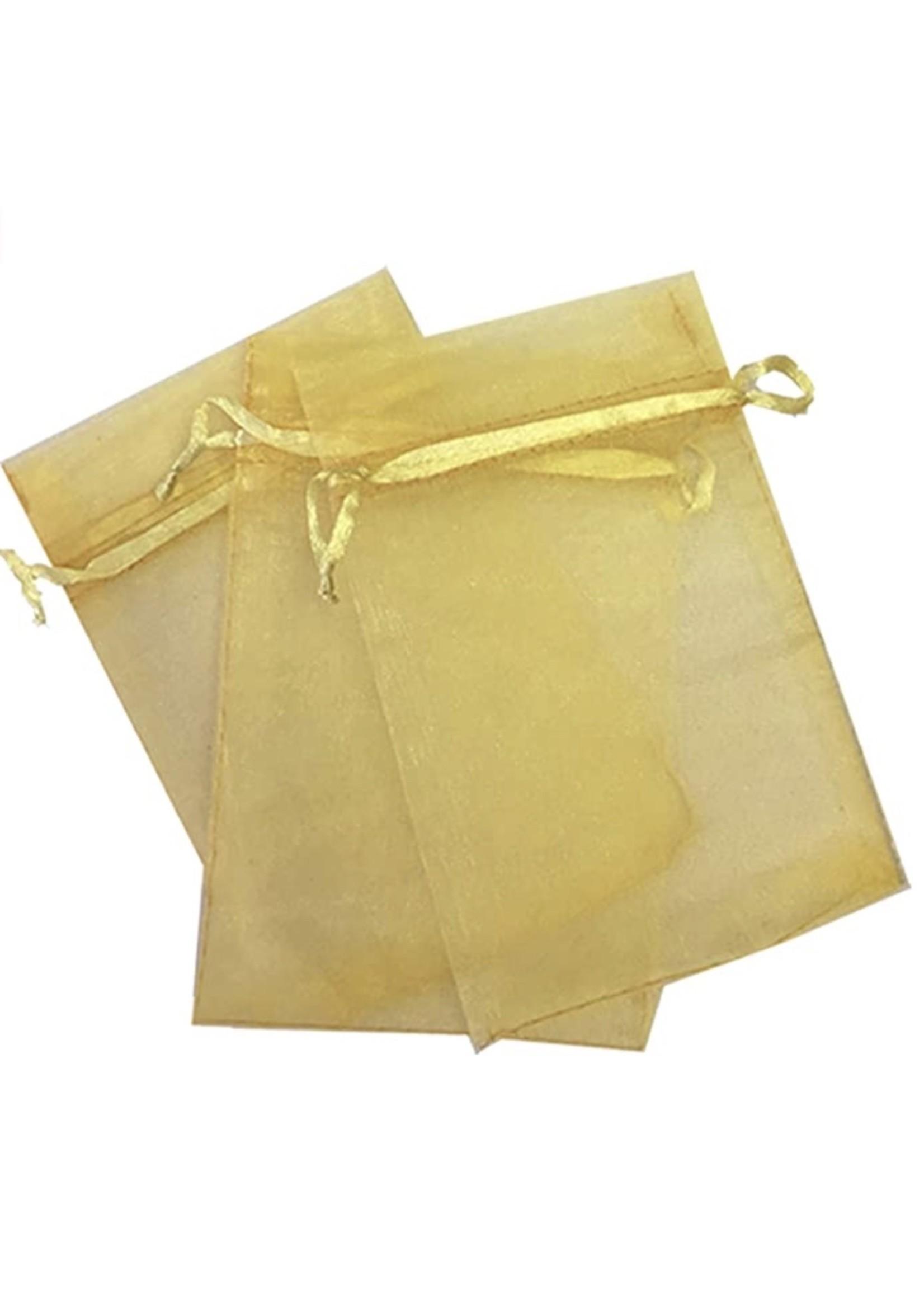 Gold Organza Bags - Box of 5000
