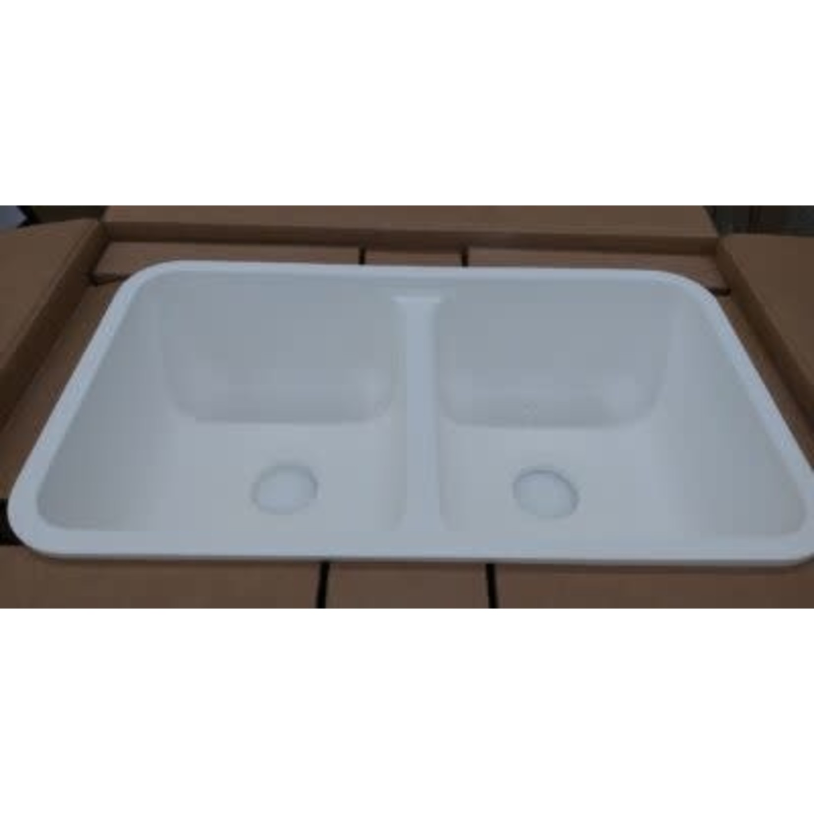 2801  Wilsonart Double Bowl Solid Surface Sink