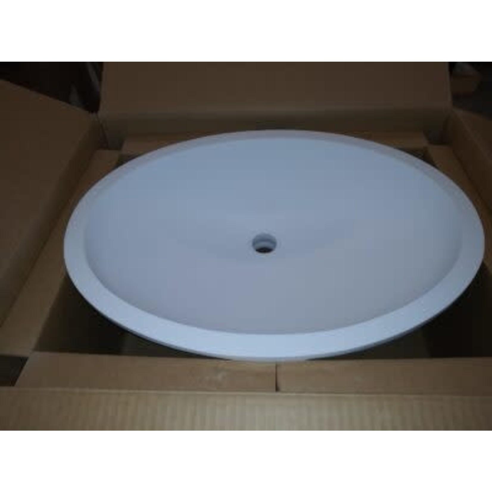 2815 Wilsonart Designer White Large Oval Vanity Sink