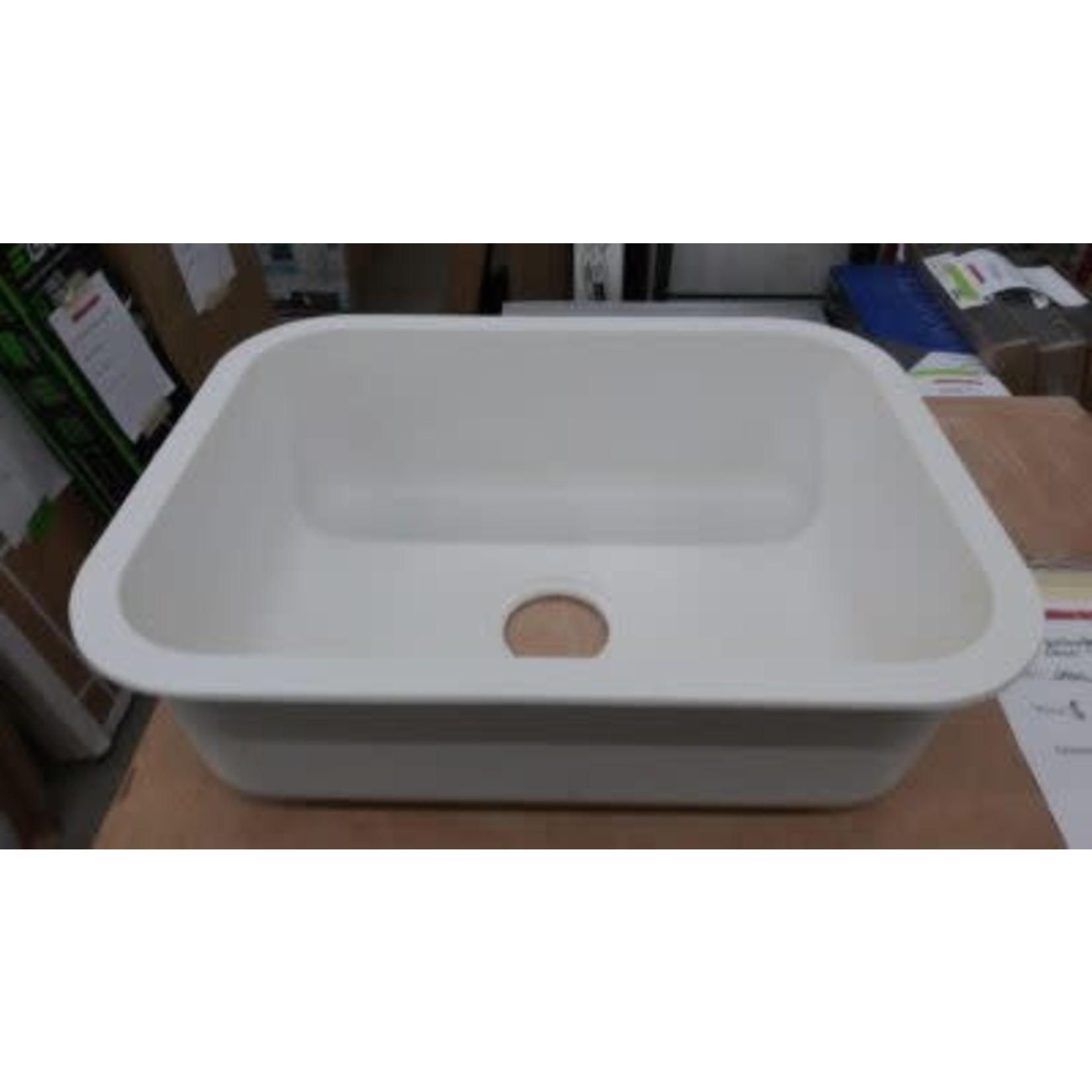 2802 DuPont Corian 871s Cameo White Single Drain Sink