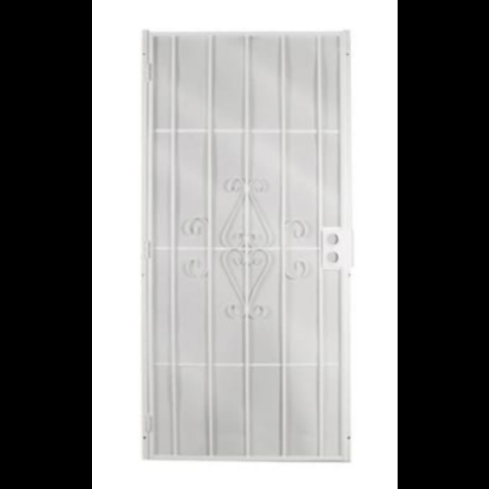 4868 Gatehouse Magnum White Steel Surface Mount Security Door