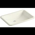 2855 Kohler Ladena Biscuit Undermount Rectangular Bathroom Sink with Overflow Drain