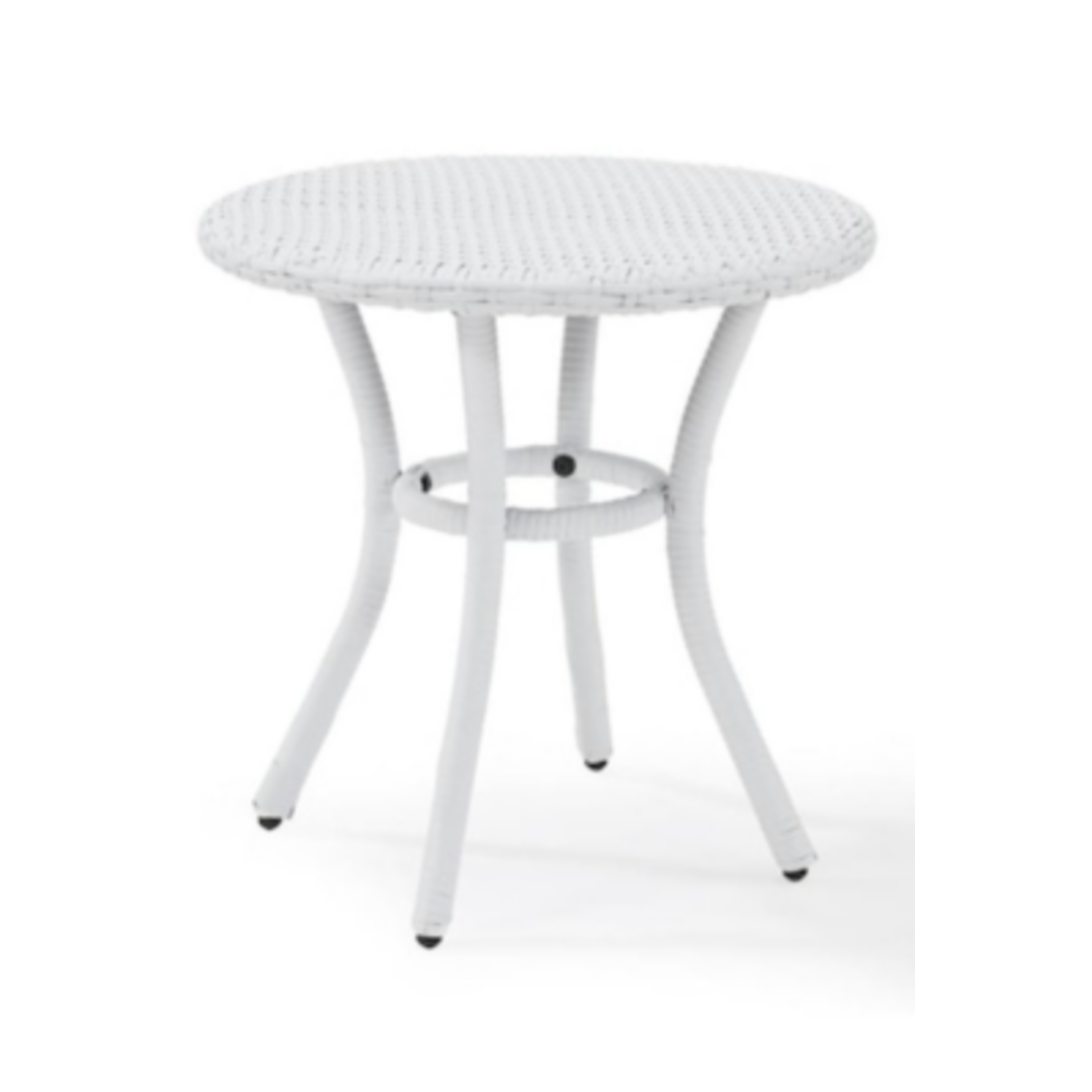 6438 Crosley Furniture Round Wicker End Table