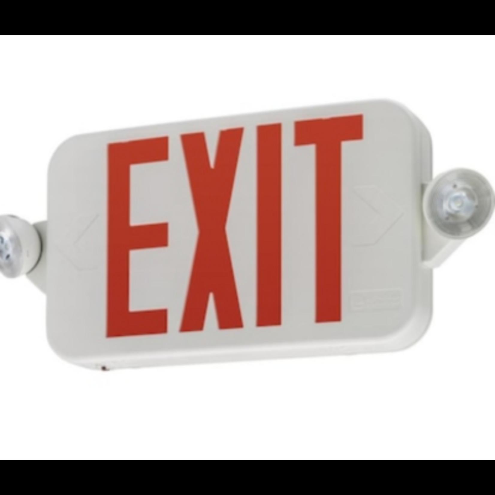 6446 Lithonia Lighting Red LED Exit Light