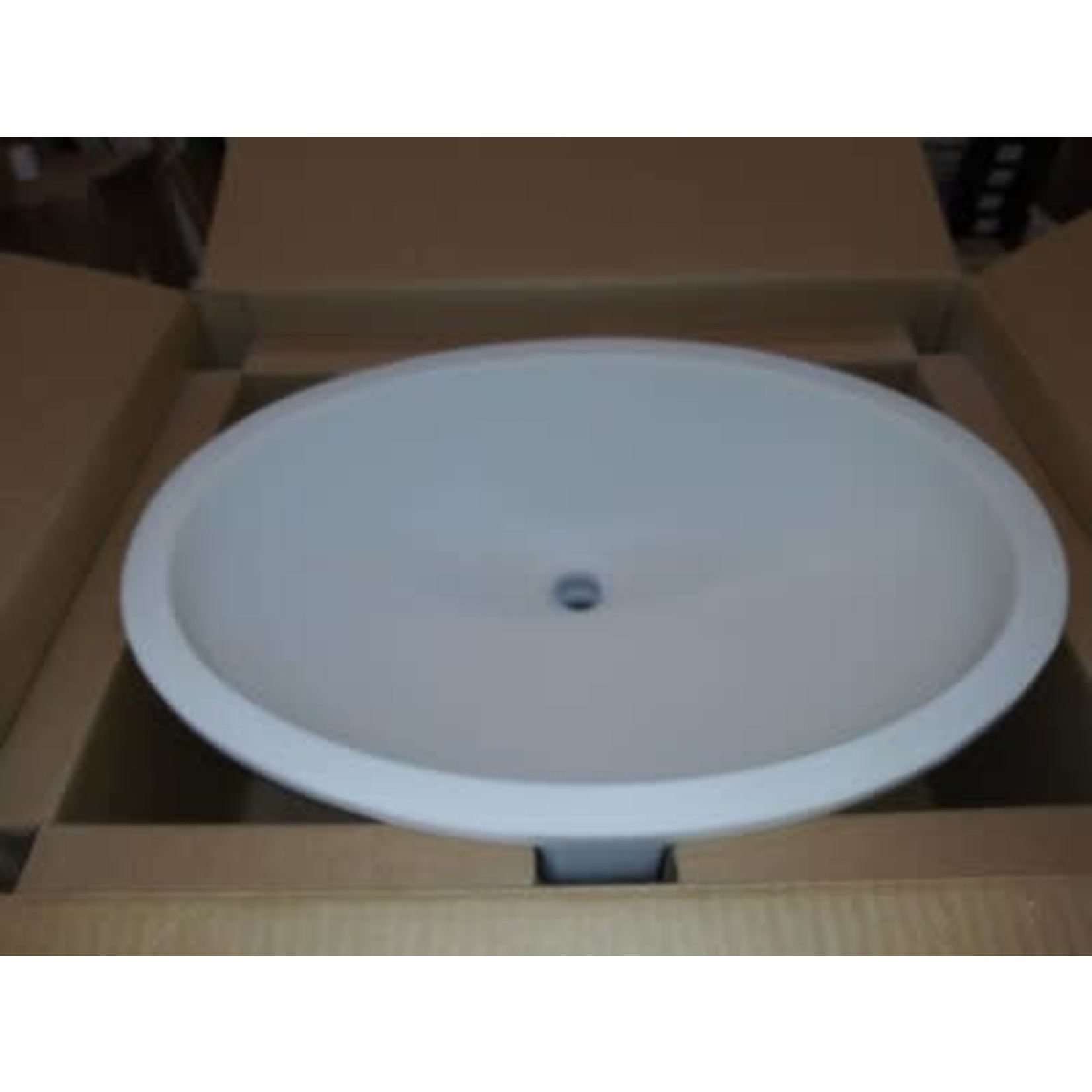 2814 Wilsonart Calm White Large Oval Vanity Sink