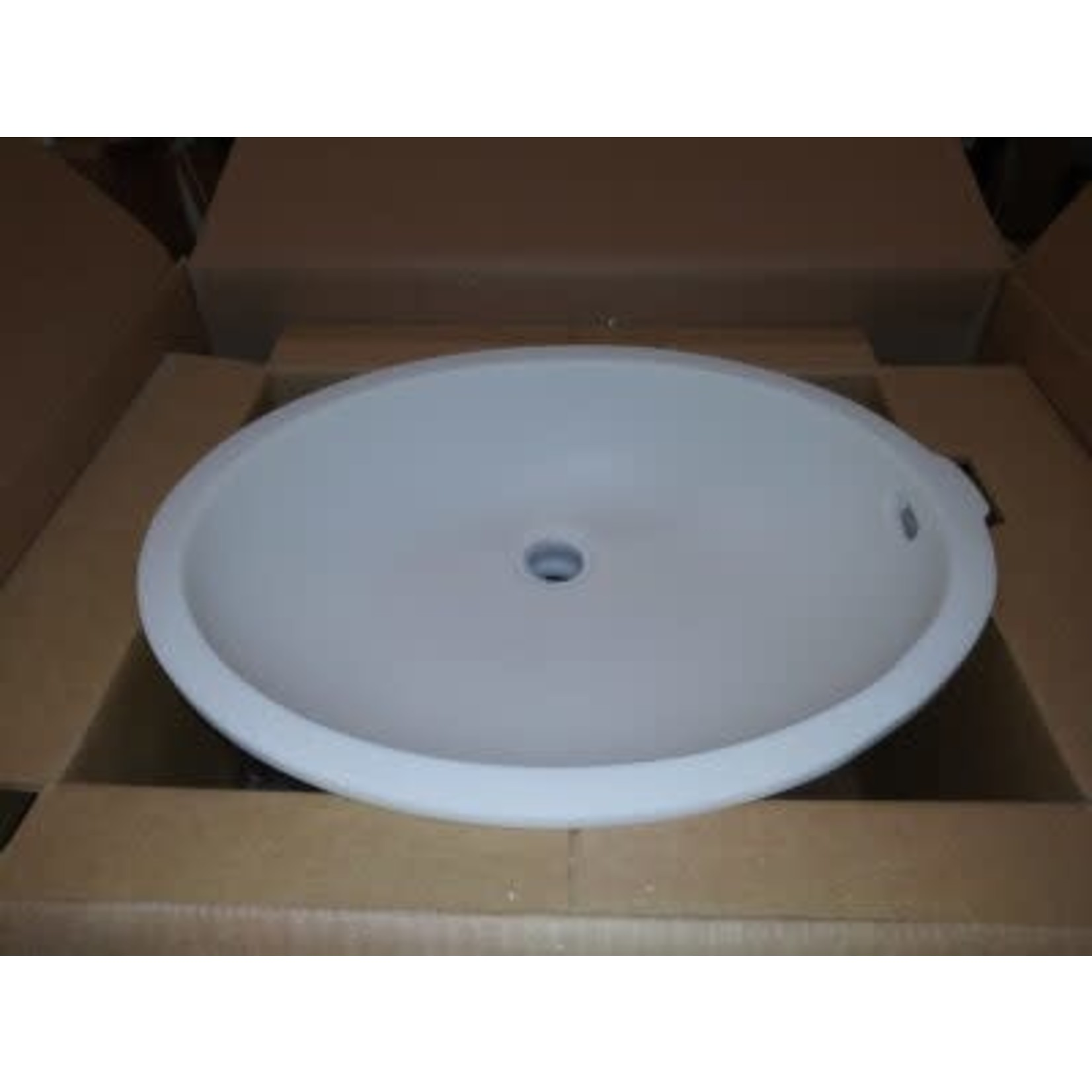 2816 Wilsonart Calm White Oval Vanity Sink