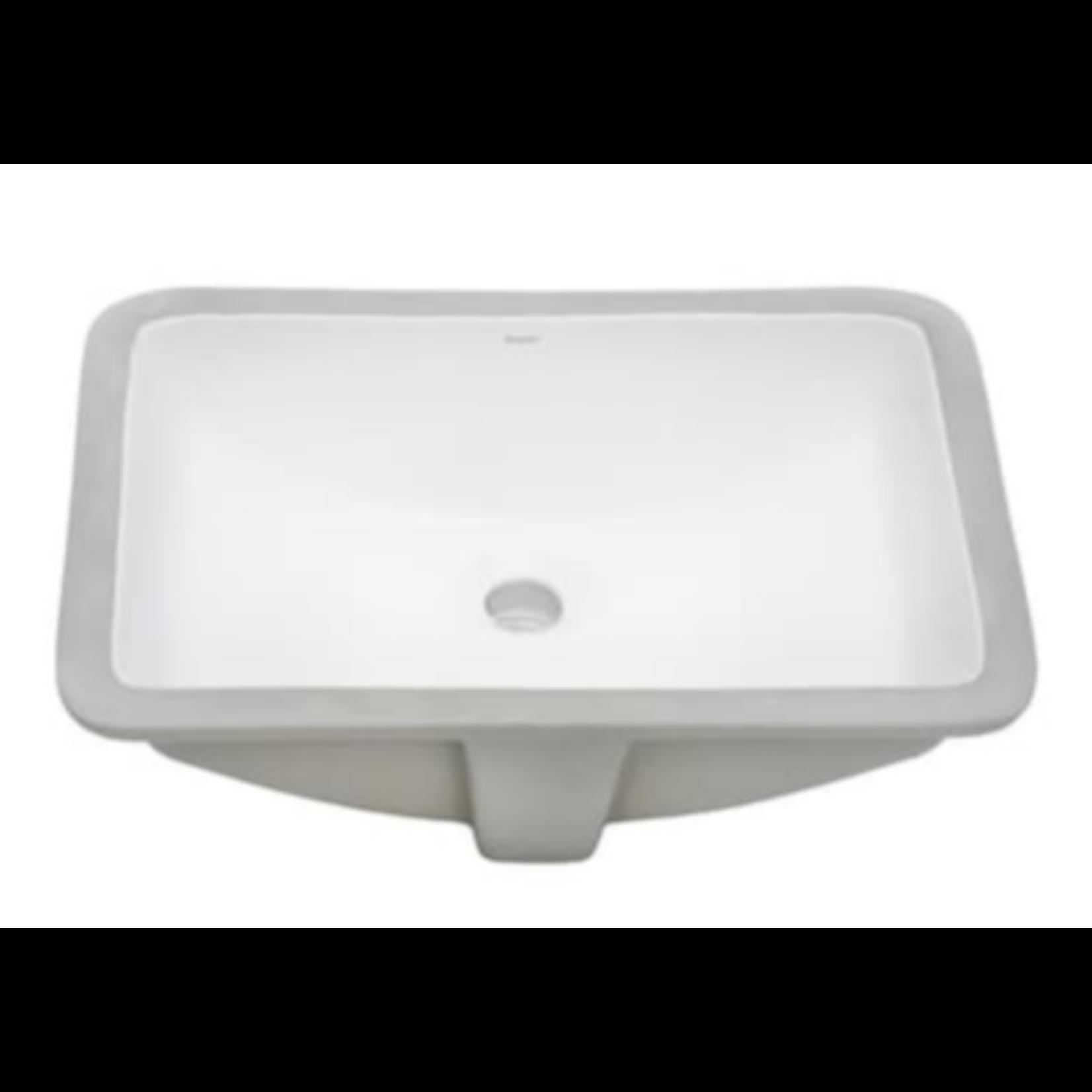 2854 Ruvati Krona White Ceramic Undermount Bathroom Sink