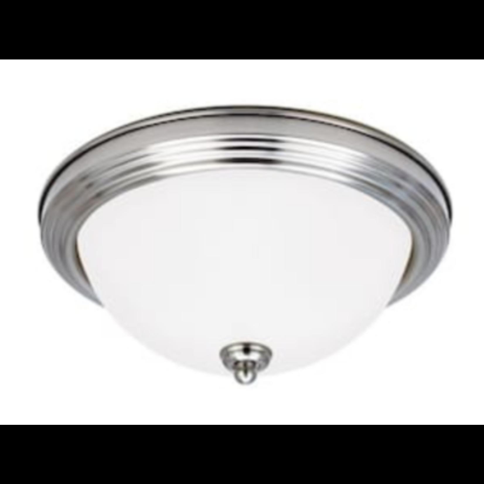 6906 Sea Gull Lighting 2-Light Brushed Nickel Flush Mount Light