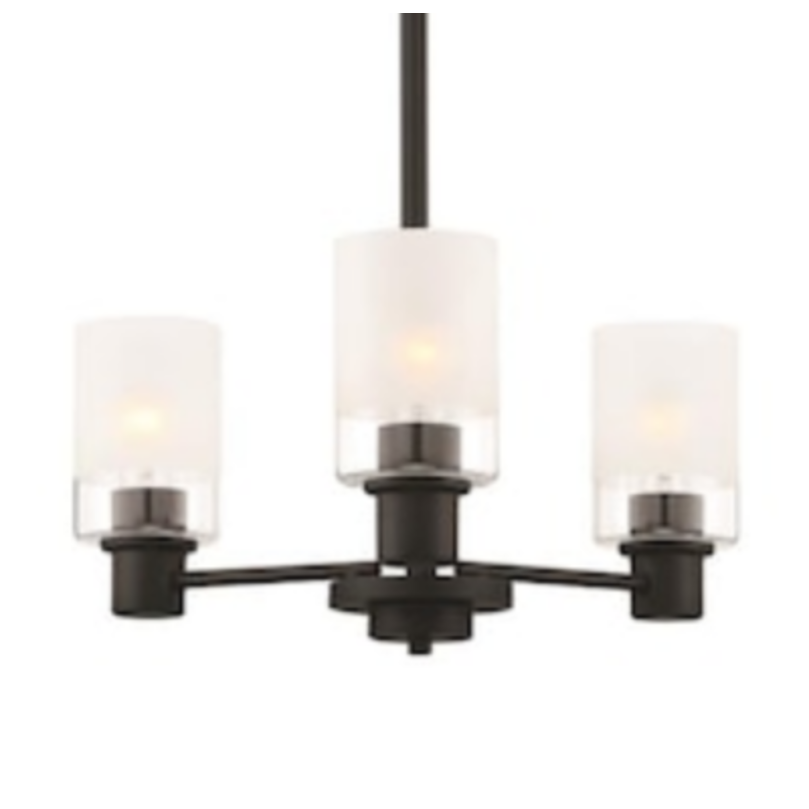 6872 Designers Fountain Cedar Lane 3-Light Matte Black Chandelier