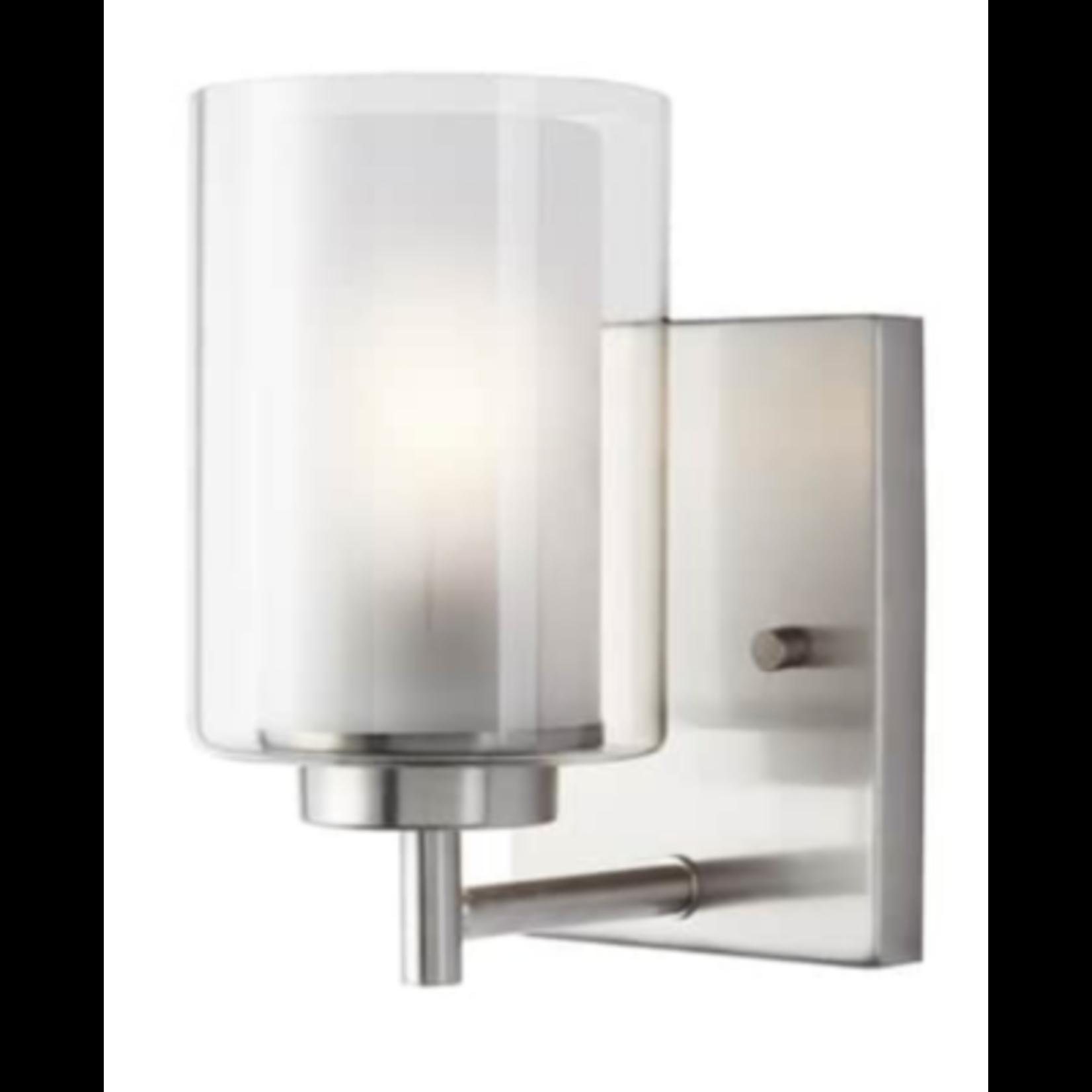 6770 Sea Gull Lighting Elmwood Park Brushed Nickel Vanity Light