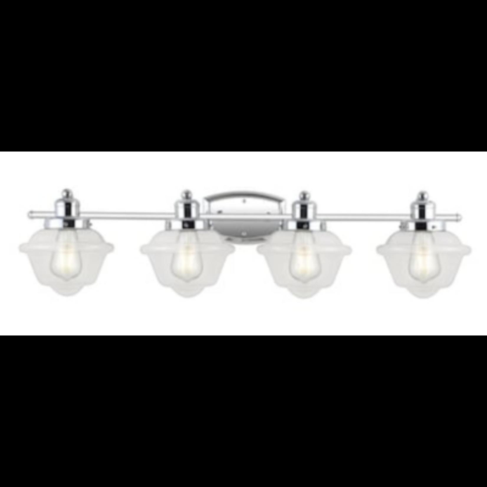 6704 Jonathan Y Coastal 4-Light Chrome French Vanity Light
