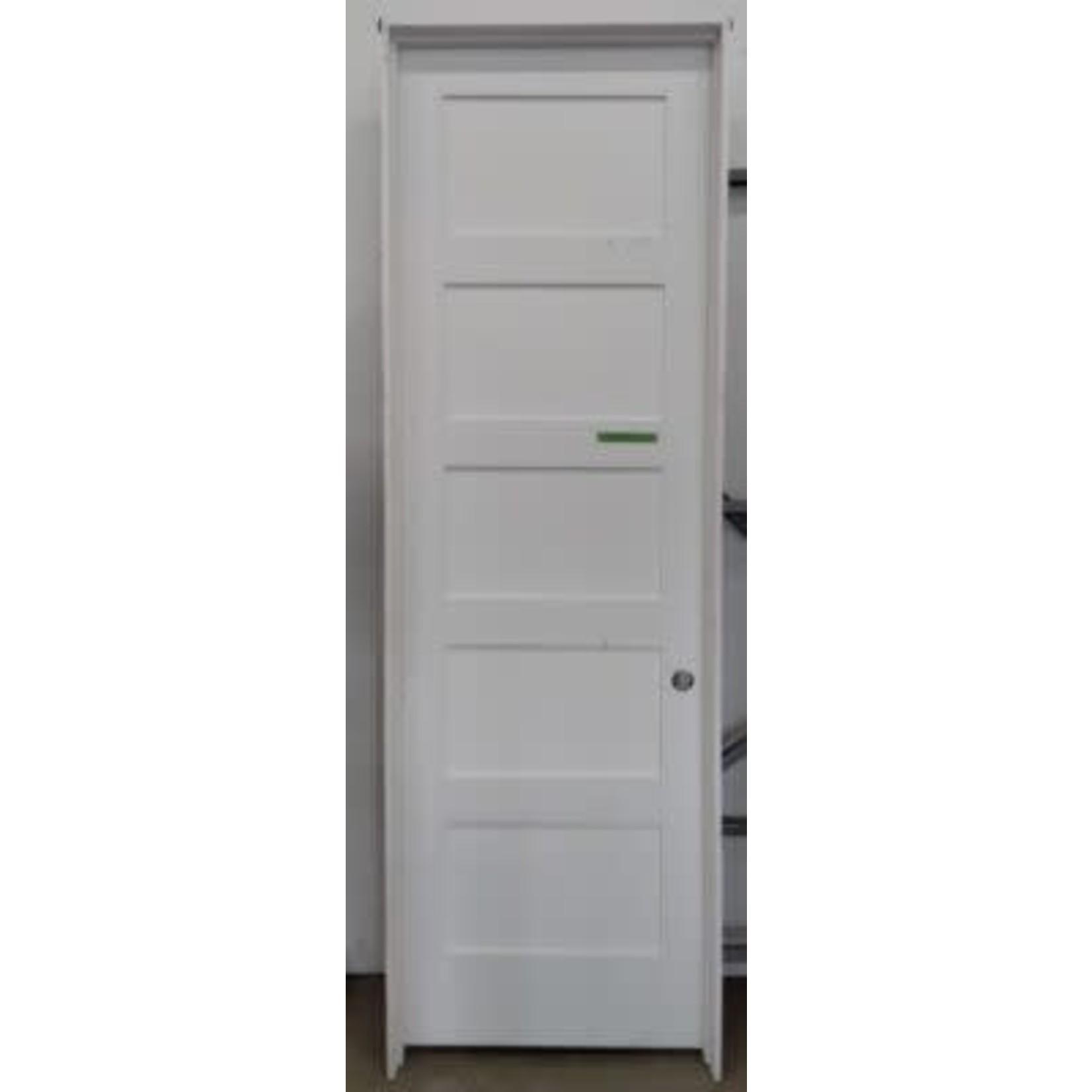 4077 Primed Pre-Hung Recessed 5-Panel Interior Door