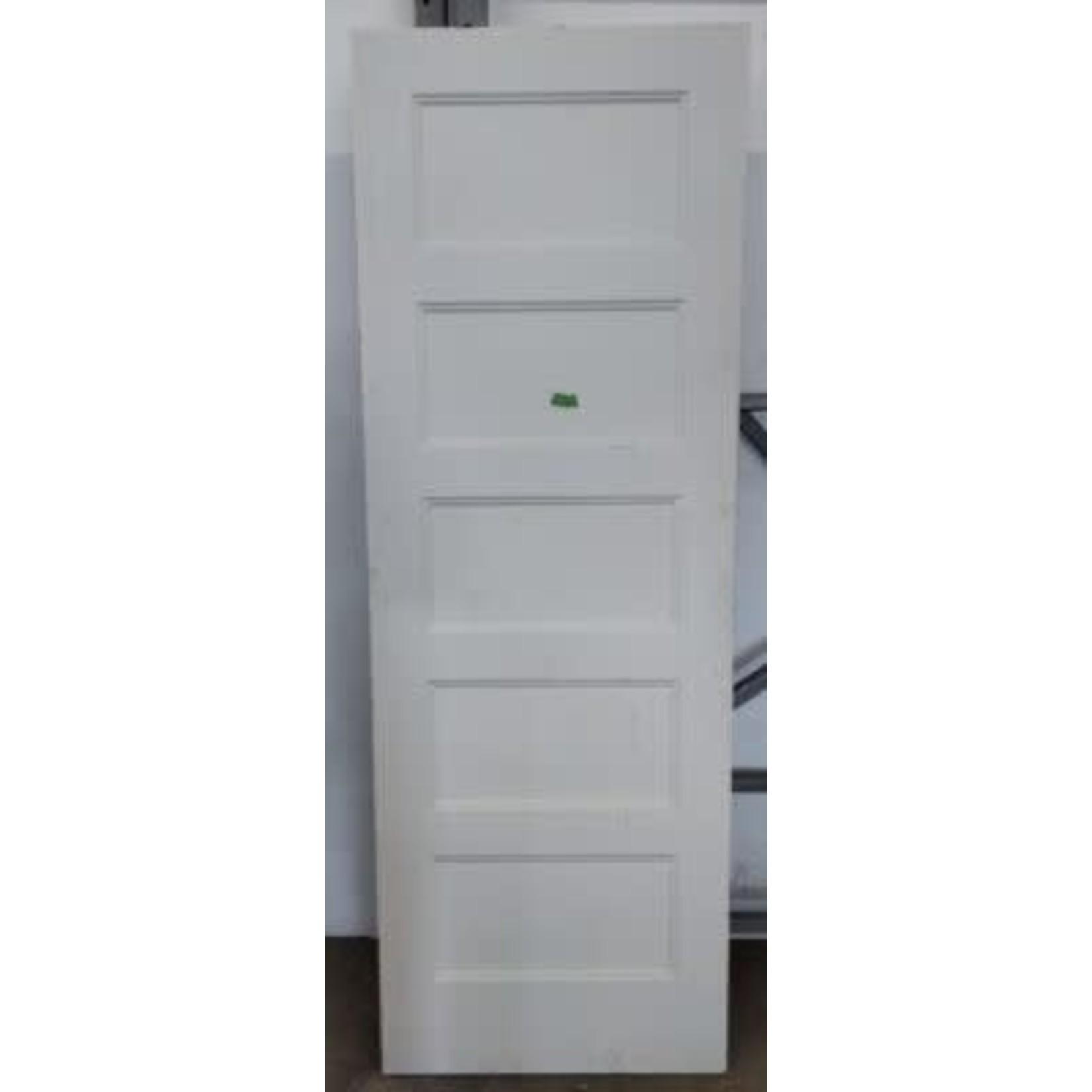 4075 Primed Recessed 5-Panel Interior Door Slab