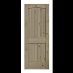 4063 EightDoors 2-Panel Arch Top Unfinished Pine Wood Door Slab