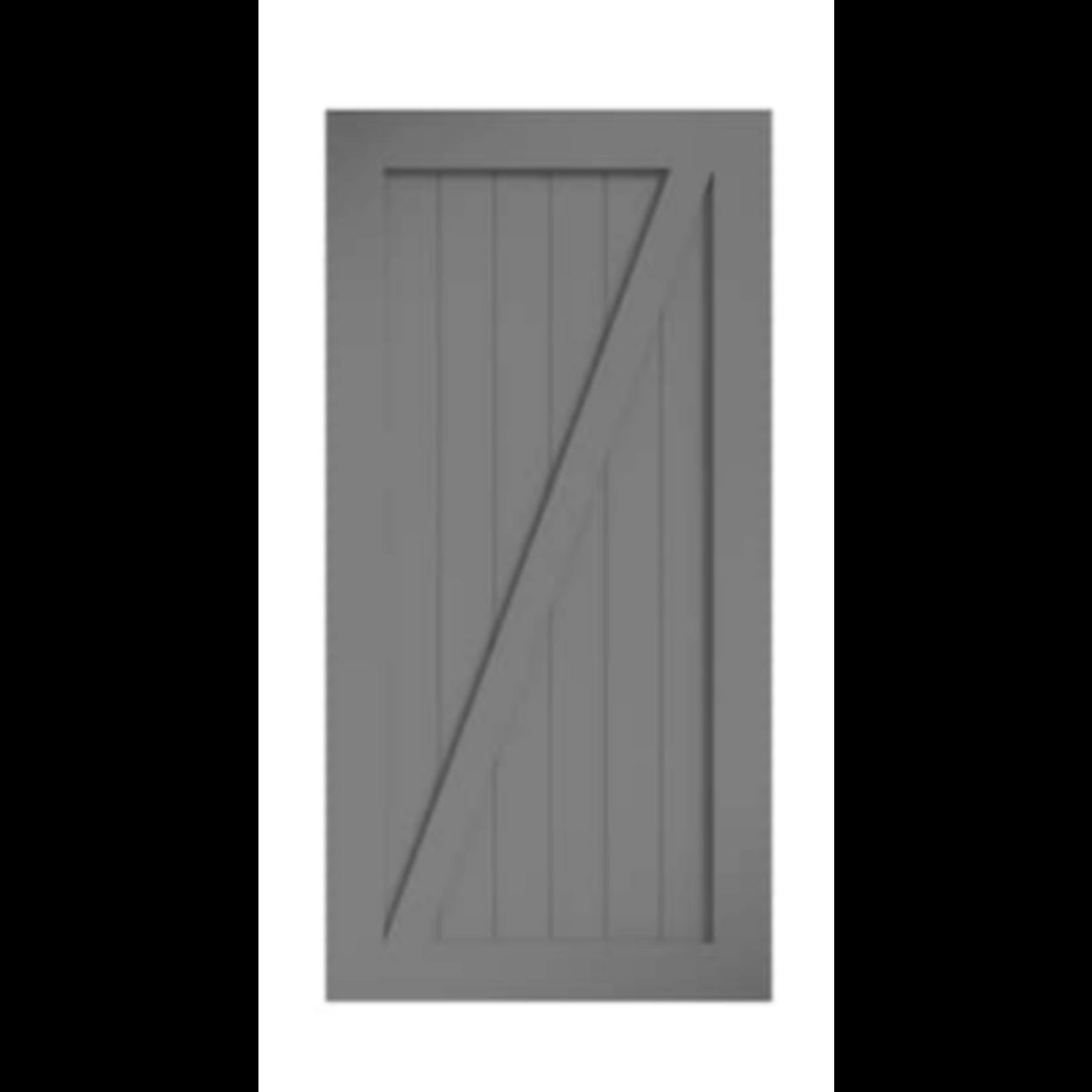 4052 EightDoors Gray 1-Panel Prefinished Pinewood Barn Door