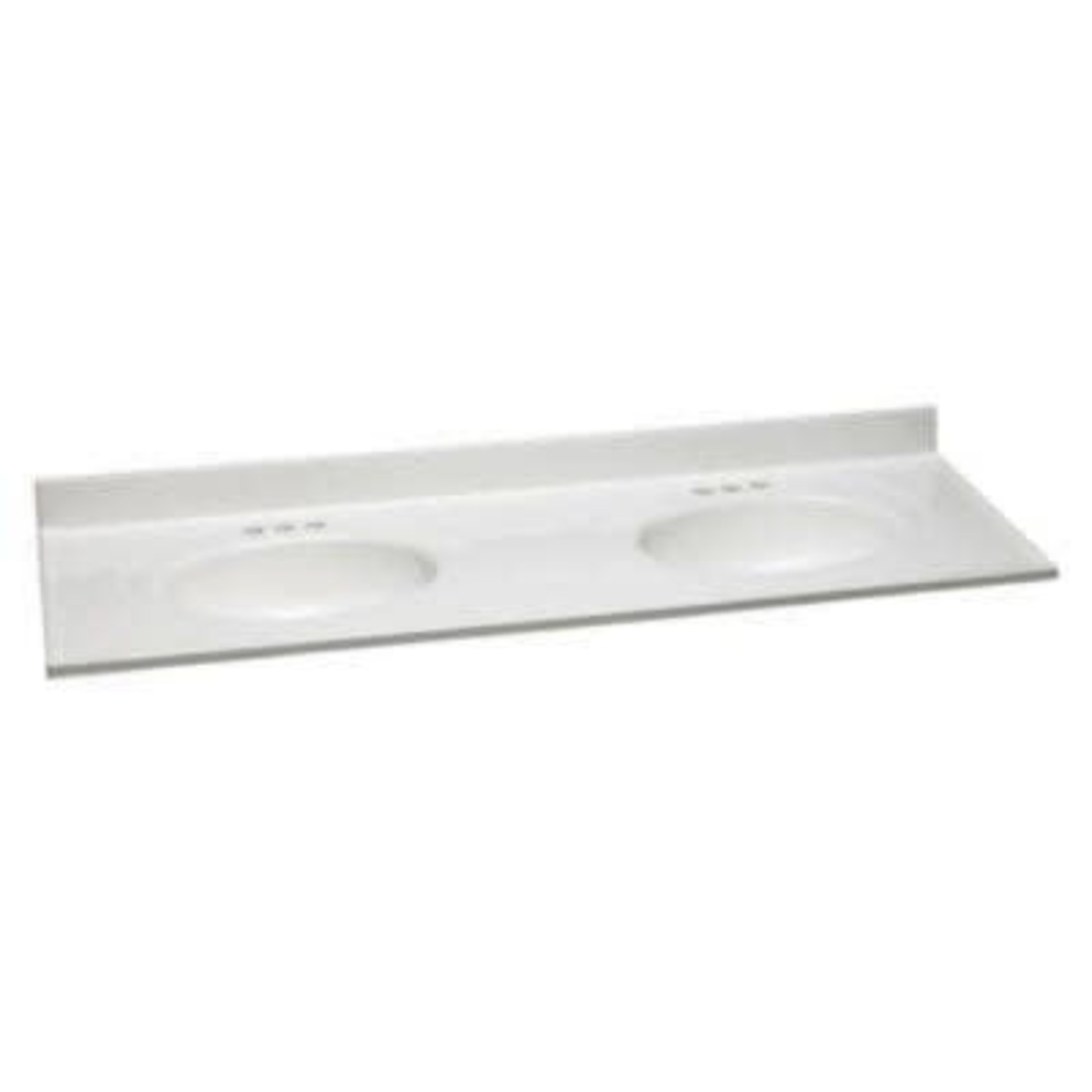 2961 Design House Double Sink Cultured Marble Vanity Top