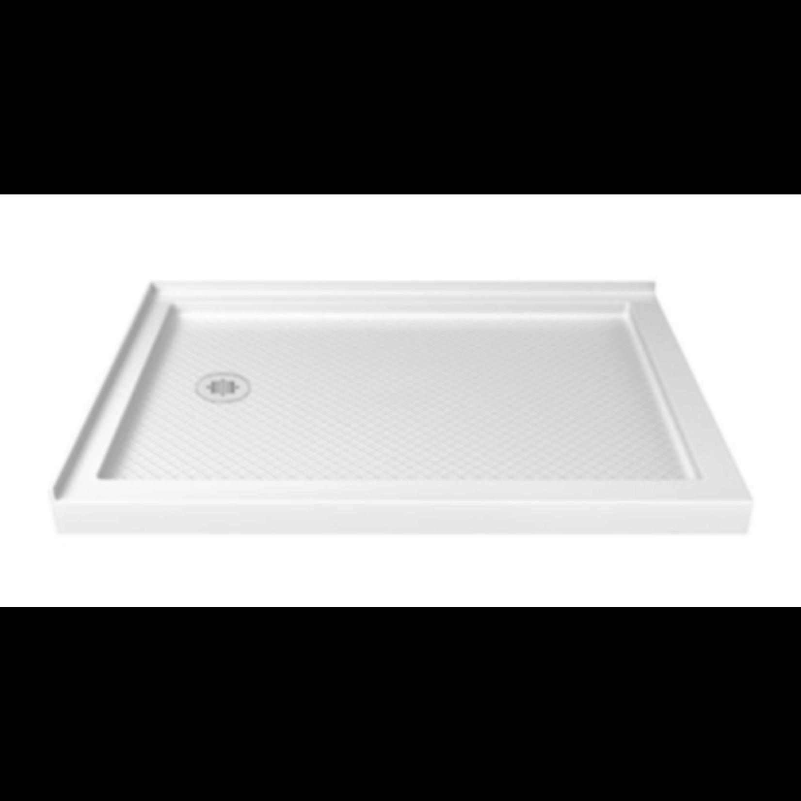 2943 Dreamline Slimline White Left Drain Acrylic Shower Base