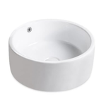 2859 Topcraft Bathroom White Ceramic Vessel Round Sink