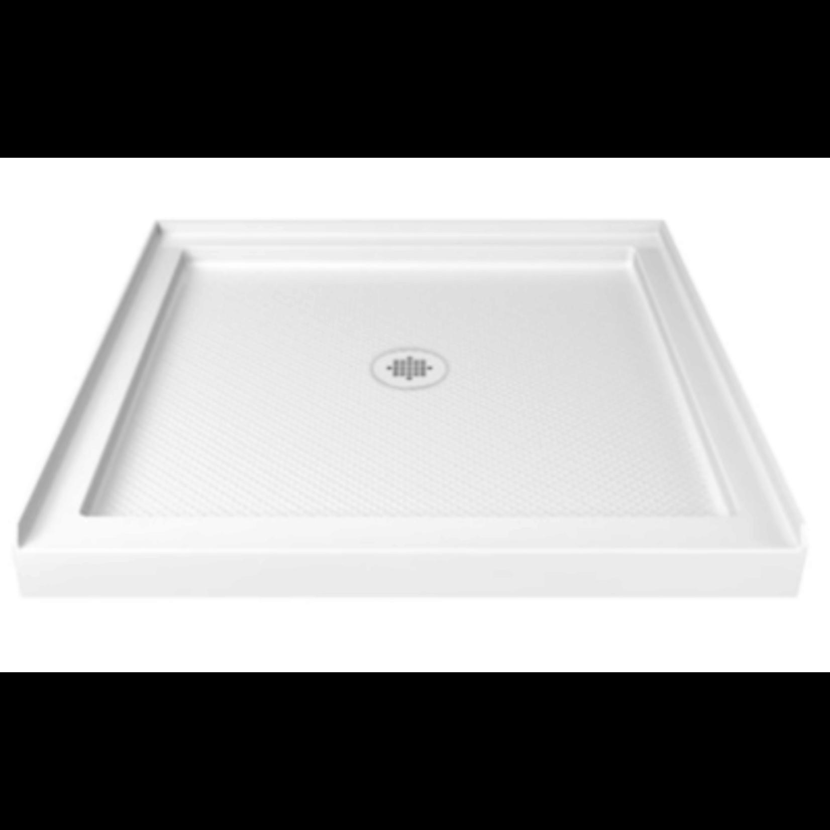 2036 DreamLine SlimLine White Center Drain Acrylic Shower Base