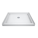 2031 DreamLine SlimLine White Center Drain Acrylic Shower Base