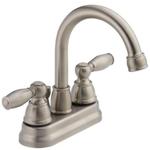 2027 Peerless Apex Brushed Nickel 2-Handle Bathroom Sink Faucet