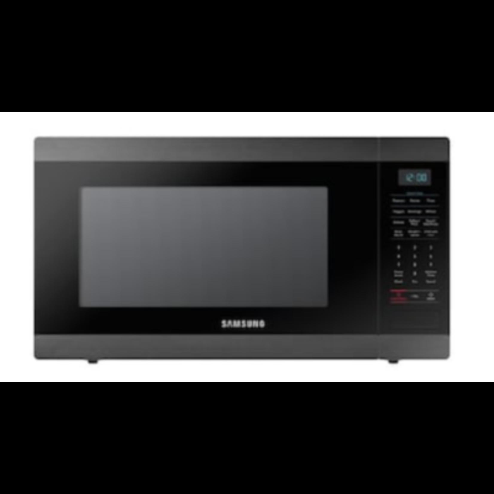 1558 Samsung Black Stainless Steel Countertop Microwave
