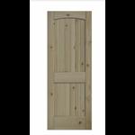 4071 2-Panel Arch Top Unfinished Pine Wood Slab Door
