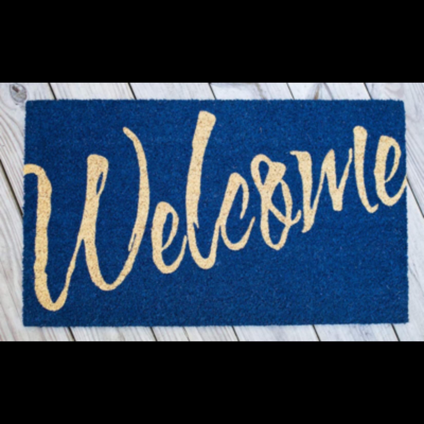 6615 Avera Navy Blue Welcome Door Mat