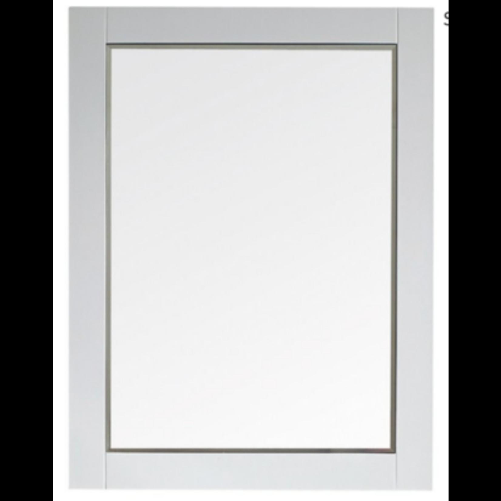 9214 Vinnova Florence White Framed Bathroom Wall Vanity Mirror