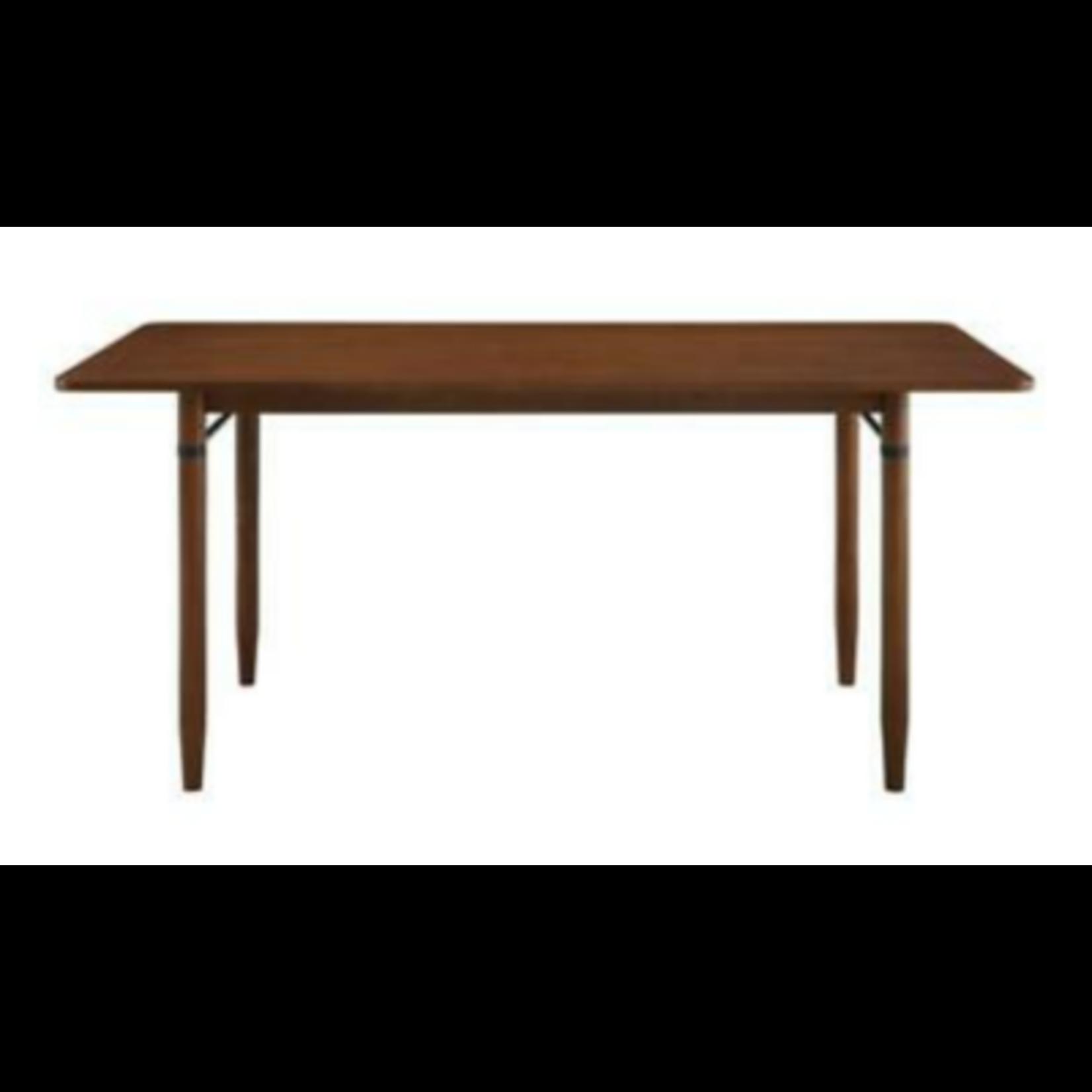 9198 Walker Edison Walnut Dining Table