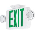 6835 Progress Lighting Battery Operated Green LED Exit Sign