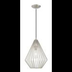 6964 Livex Lighting Geometric Shade Mini Pendant Light