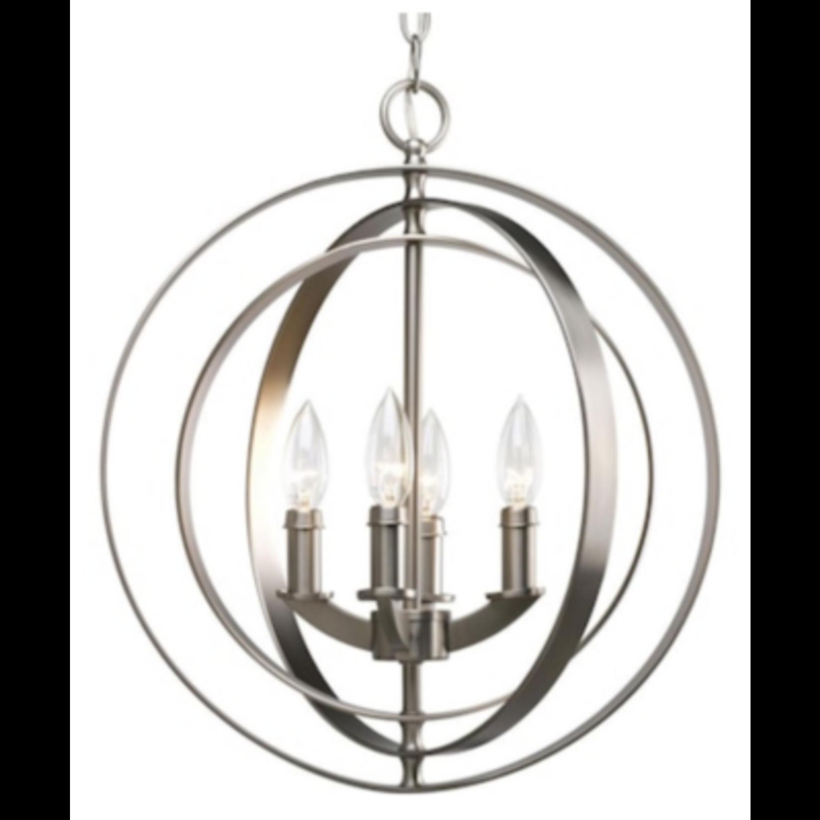 6955 Progress Lighting Equinox Burnished Silver Globe Pendant Light