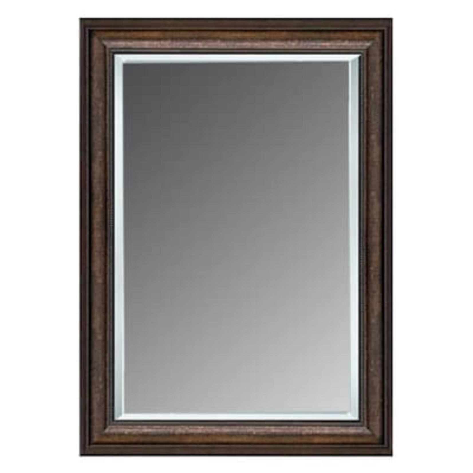 10082 Allen+Roth Copper Beveled Wall Mirror