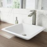 10091 VIGO Duris Brushed Nickel 1-Handle Vessel Bathroom Sink Faucet