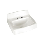 10093 American Standard White Cast Iron Wall Mount Bathroom Sink