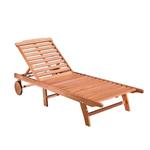 10110 Vifah Malibu Red Tan Wood Frame Stationary Lounge Chair