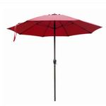 10128 J&J Global Four Seasons Red Alu Umbrella