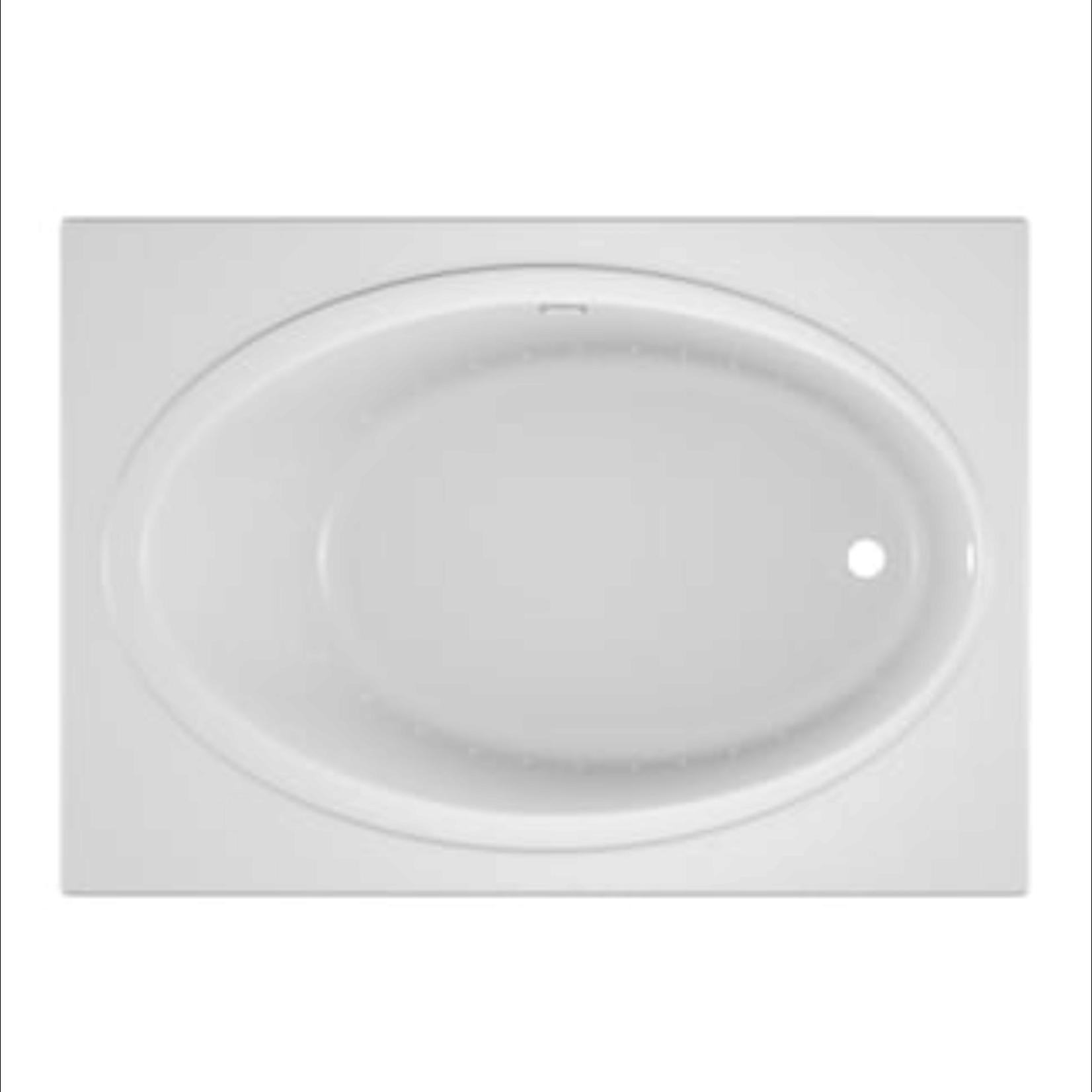 10161 Jacuzzi Nova White Acrylic Drop-In Air Bath