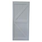 10152 Primed 2-Panel K-Frame Barn Door Slab