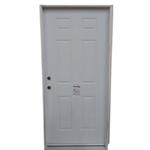 10172 White Primed Pre-Hung 6-Panel Steel Exterior Door