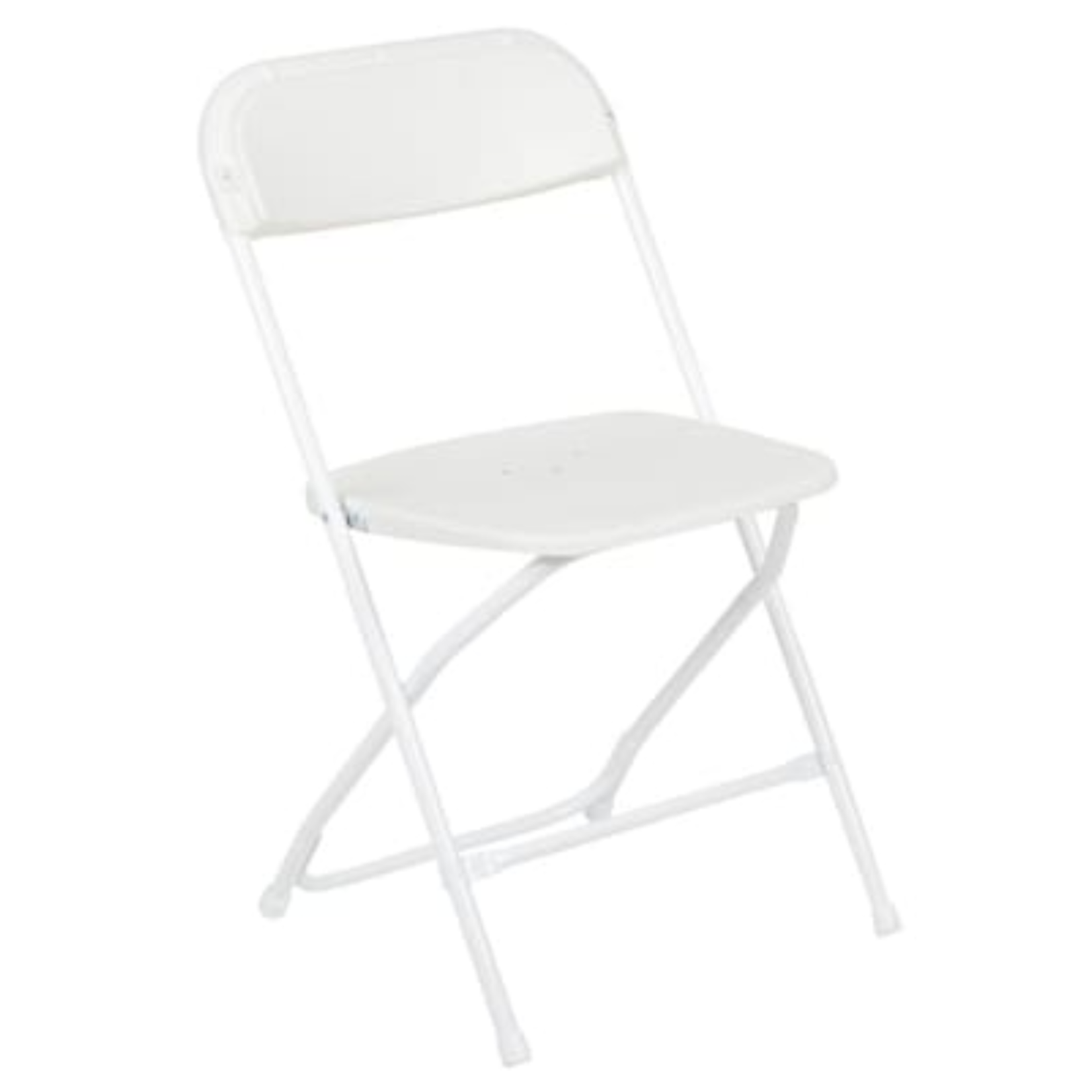 10249 Flash Furniture White Outdoor Folding Chair with Solid Seat