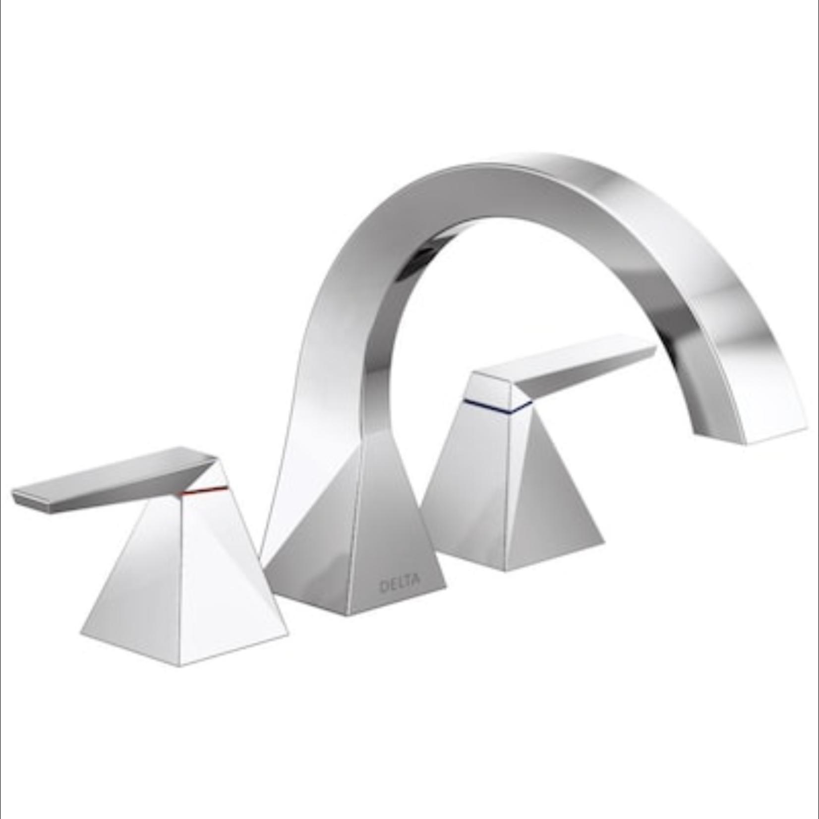 10256 Delta Trillian Chrome 2-Handle Roman Bathtub Faucet