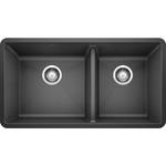 10257 Blanco Precis Undermount Double Offset Bowl Kitchen Sink