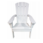 10265 United General Supply White All Weather Adirondock Chair