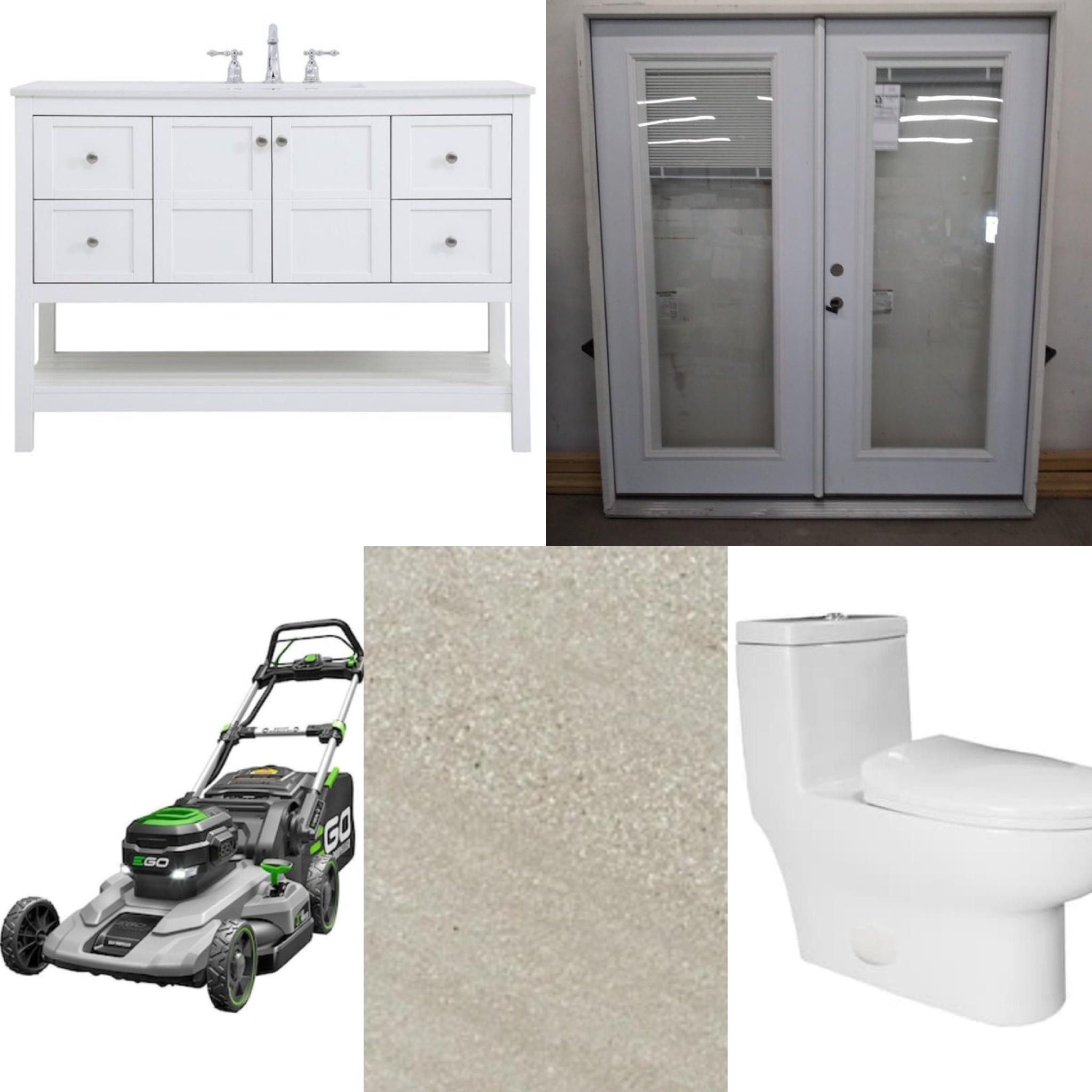 Bathroom Vanity, French Doors, Lawnmowers and More!