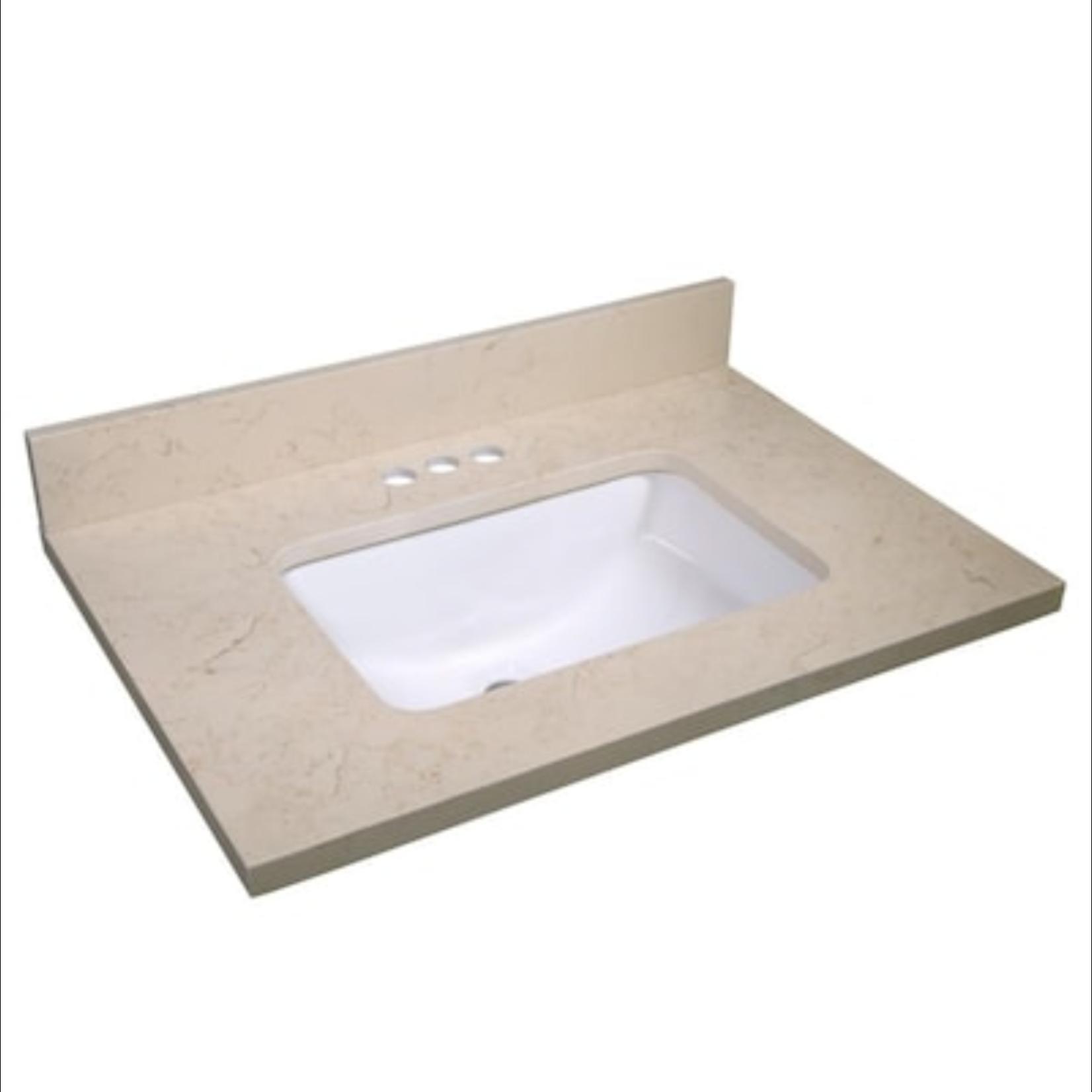 10297 Design House Giallo Single Sink Bathroom Vanity Top