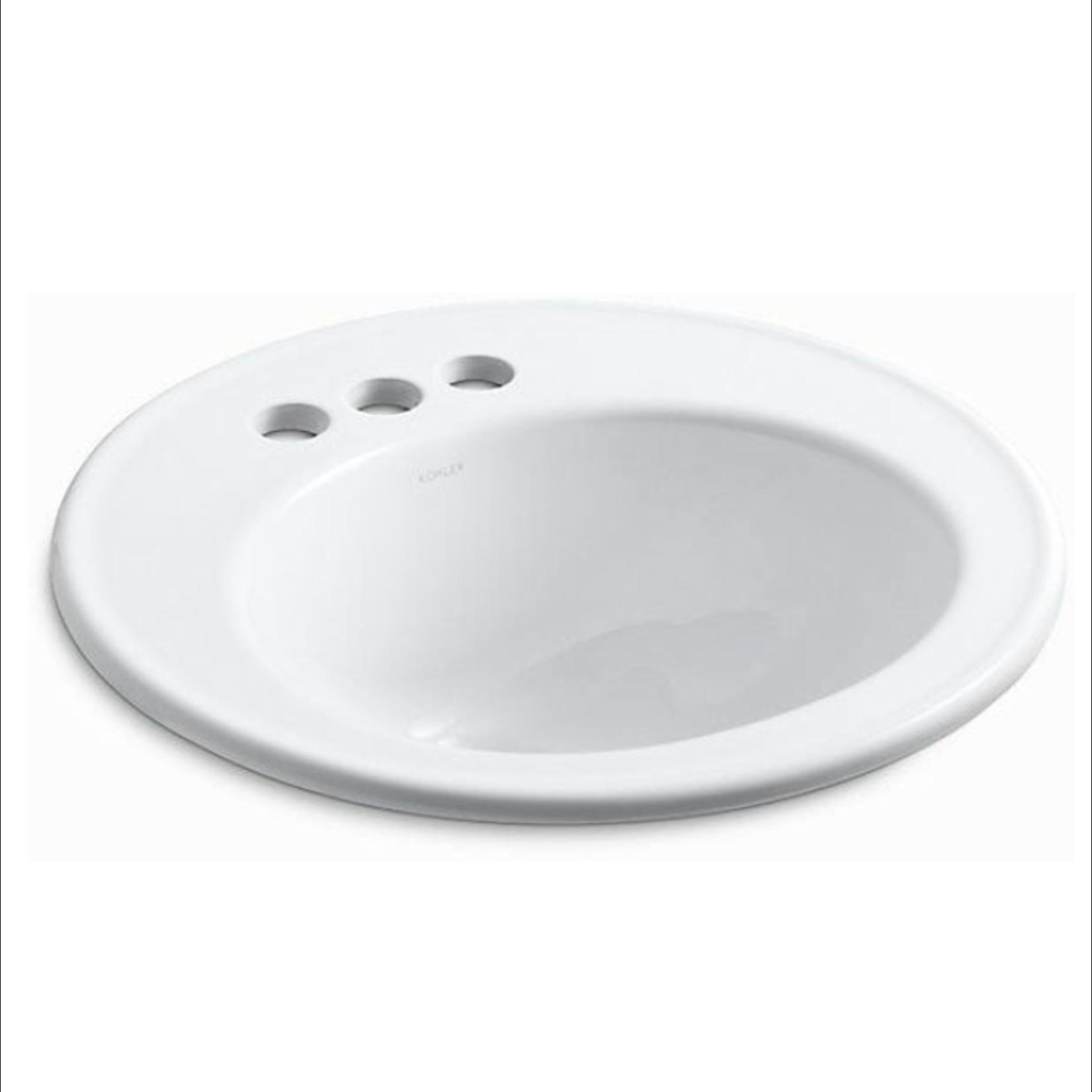 10311 Kohler Brookline Drop-In Bathroom Sink