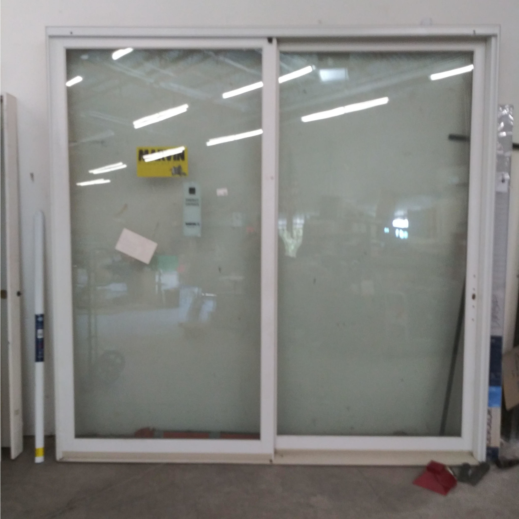 10349 Marvin White Pre-Hung Sliding Glass Patio Door