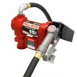 10357 Fill Rite 12V 15GPM Fuel Transfer Pump W/ Hose, Nozzle, And Suction Pipe